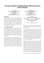 Transducer Models of Sliding Window ARQ Protocols ... - Iisc.ernet.in