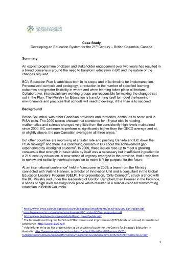 Case Study Bc (PDF) - Global Education Leaders' Program