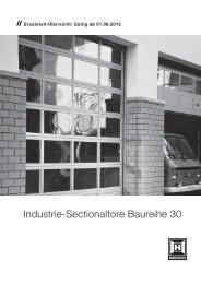 Industrie-Sectionaltore Baureihe 30 - Hörmann KG