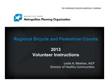 2013 Regional Bicycle and Pedestrian Counts - Nashville Area MPO