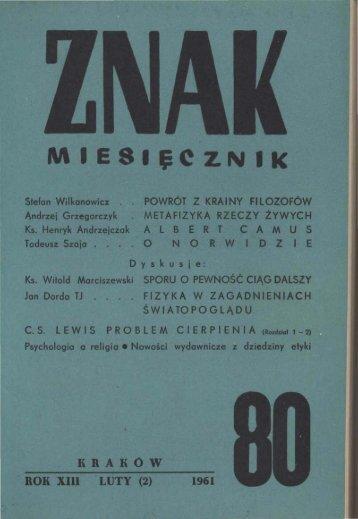 Nr 80, luty 1961 - Znak