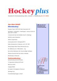 HockeyPlus Nr. 13 (PDF) - Deutscher Hockey Bund e.V.