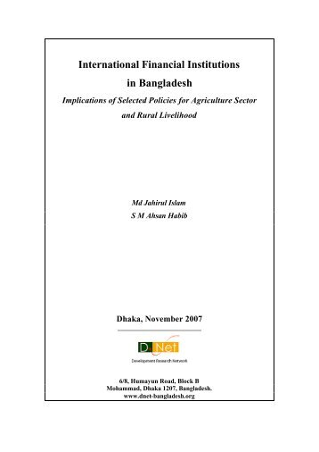 International Financial Institutions in Bangladesh - Campaign for ...