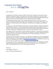 Annual Commitment Adjustment Letter and Form - Congregation B ...