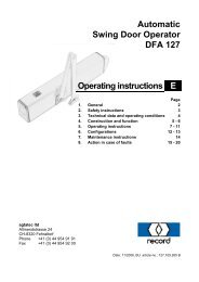 Automatic Swing Door Operator DFA 127 Operating instructions E