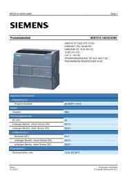 Product data sheet 6ES7214-1AE30-0XB0 - TP Automation e.K.