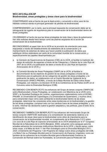 WCC-2012-Res-036-SP Biodiversidad, áreas ... - IUCN Portals
