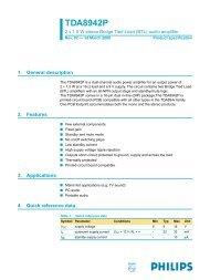 TDA8942P anfi devresi 2x1.5 W BTL audio amplifier - 320Volt