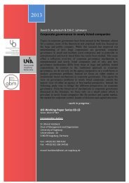 Corporate governance in newly listed companies - WiWi ...