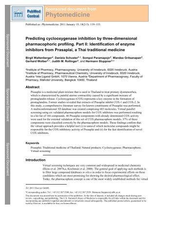 Phytomedicine - BioMedSearch