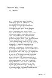 Poem of My Hope - Cimarron Review