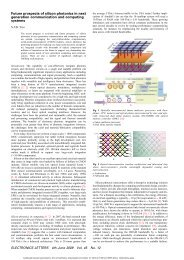 Future prospects of silicon photonics in next generation ...
