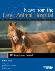 News from the LAH.indd - Veterinary Extension - University of Florida