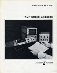 TIME INTERVAL AVERAGING - HP Memory Project