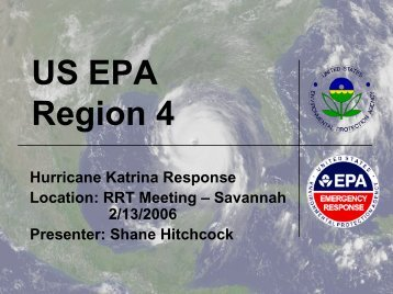 EPA Region 4 - The U.S. National Response Team (NRT)
