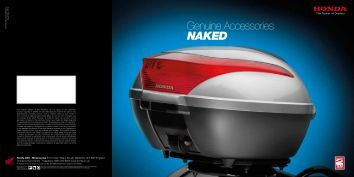 Genuine Accessories Naked - Doble Motorcycles