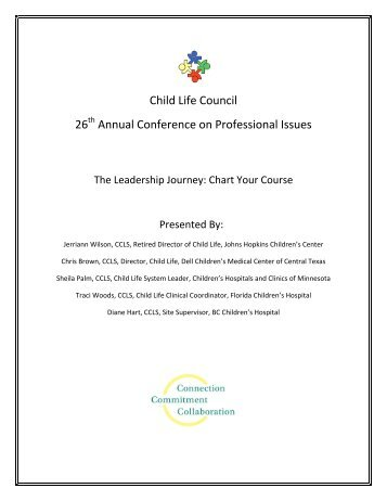 The Leadership Journey: Chart Your Course - Child Life Council