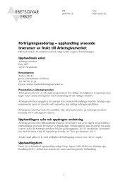 Förfrågningsunderlag – upphandling avseende ... - Arbetsgivarverket