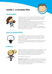 LECCIÓN 2: LA ACTIVIDAD FÍSICA - Sanitas