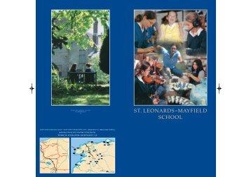 ST. LEONARDS~MAYFIELD SCHOOL - Em-online.com