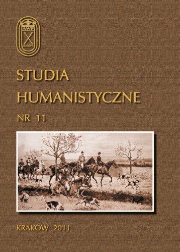 full text - wydawnictwa AWF w Krakowie