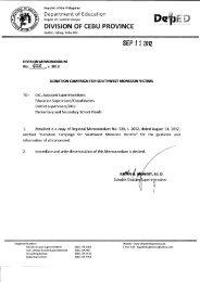 Memo No. 428, S. 2012 - DepEd Cebu Province