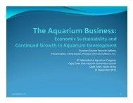 The aquarium business - International Aquarium Congress