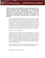 Coordinación de Legislación y Jurisprudencia AMPARO DIRECTO ...