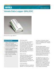 QML201C Data Logger Datasheet - Vaisala