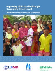 Improving Child Health through Community Involvement - Pathfinder ...