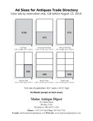 (For Printable Size Chart (pdf), Click Here) - Maine Antique Digest