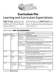 Curriculum Fits Learning and Curriculum ... - Teach Nutrition