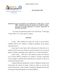RISOLUZIONE N.278/E Roma,04 luglio 2008 OGGETTO: Istanza di ...