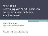 Betreung von MRSA- positiven Patienten ausserhalb des ...