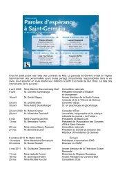 Résumé des Lumières de Midi de 2012 - Eglise catholique ...