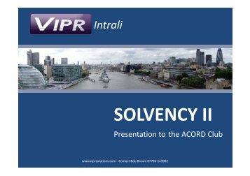 Solvency II - The Bordereaux - Acord