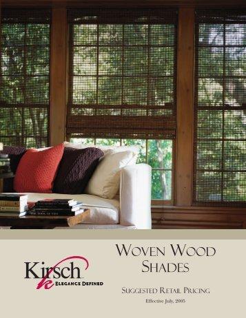 KI Woven Wood Shades MSRP 2005 - DeLaine James Inc