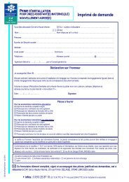 Imprimé de demande de la prime d'installation - Caf.fr