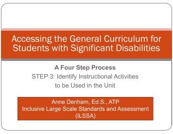 Accessing the General Curriculum for Students with ... - NAAC