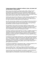 O marco regulatório e o ambiente jurídico e legal, de acordo ... - Nuca