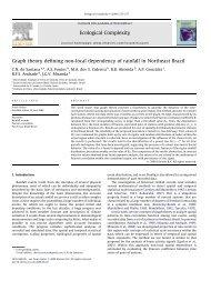 de Santana, et al (2009). Ecological Complexity