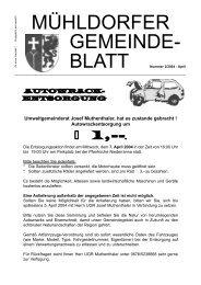 Gemeindeblatt April 2004 (0 bytes) - Marktgemeinde Mühldorf in der ...