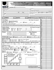 vinyl liner order & measuring form - Bel-Aqua Pool Supply, Inc.