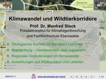 Klimawandel und Wildtierkorridore - Wildkorridor.de