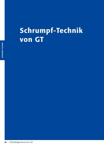 Auszug aus unserem Katalog - GT Elektrotechnische Produkte GmbH