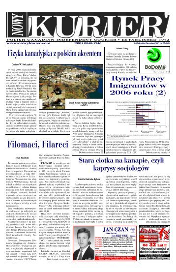 (December) 2007r. No 23 (941) - Nowy Kurier