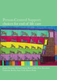 Person-Centred Support: - Shaping Our Lives