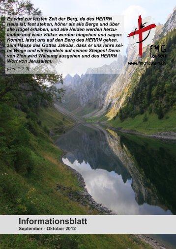 Ausgabe September / Oktober 2012 - FMG Lausen