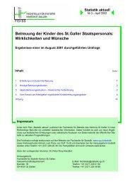 Betreuung der Kinder des St. Galler Staatspersonals - Öffentliche ...