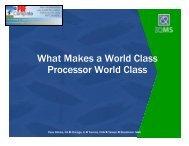 What Makes a World Class Processor World Class - MAPP
